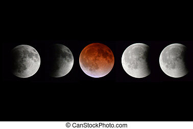 """Lunar Blood Moon - The """"Blood Moon"""" from April 15 2014 photo..."""
