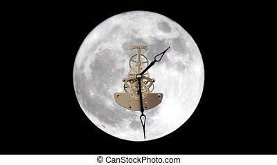 lunar clock, Timelapse