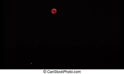 Lunar eclipse and great opposition of Mars in July 2018 was...