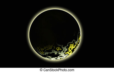 Lunar eclipse - Illustration of the moon