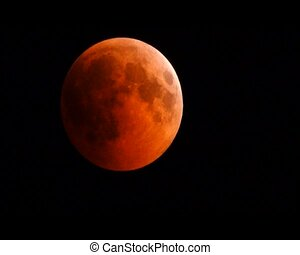 lunar eclipse July 27, 2018 - - bloody moon total eclipse...