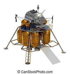 Lunar Lander. 3D Model.