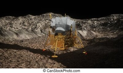 lunar landing mission on the Moon. Elements of this image...