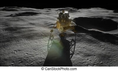 lunar landing mission on the Moon. Elements of this image furnished by NASA