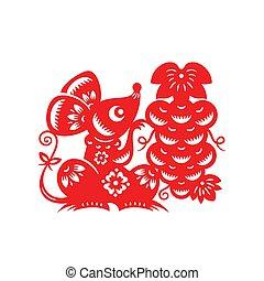 lunar, rato, chinês, ano