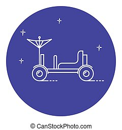 Lunar rover icon in thin line style