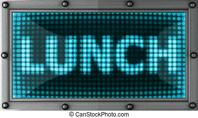 lunch announcement on the LED display