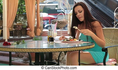 lunch at a restaurant