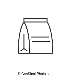 Lunch bag line outline icon