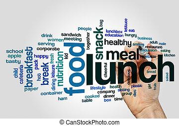 Lunch, begrepp, ord, moln