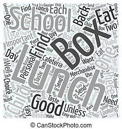 lunch box, ord, moln, begrepp