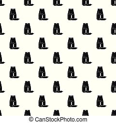 Lunch box sausage pattern seamless vector