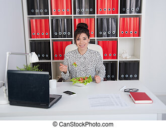 Lunch business woman