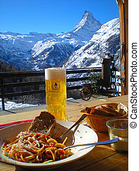 Lunch in the Alps