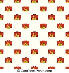 Lunch pattern seamless vector