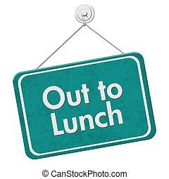 lunch, poza, znak