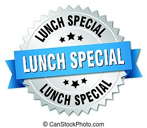 lunch special round isolated silver badge