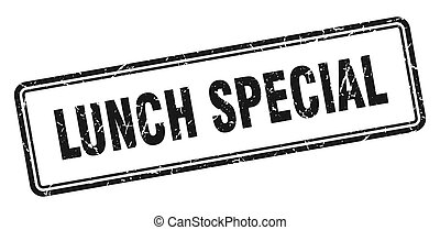 lunch special stamp. square grunge sign on white background