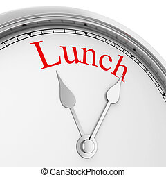 Lunch time. 3d illustration isolated on white background