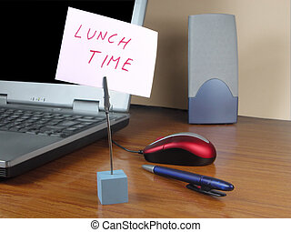 Lunch time at the office - During lunch time all activity of...