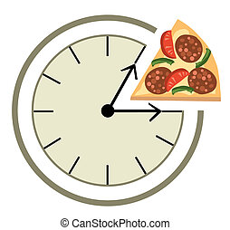 Lunch time - Clock showing a lunch break