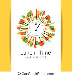 lunch time logo - Lunch Time logo. Restaurant, coffee shop,...