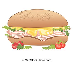 lunch time - a vector illustration in eps 10 format of a...