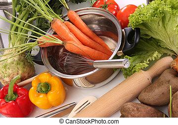 lunch, warzywa, przygotowując