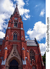 Lund church 01 - An image of an old medieval church in the...