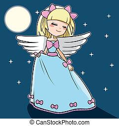 lune, ange, danse