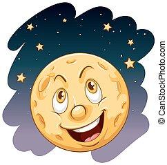 lune souriante