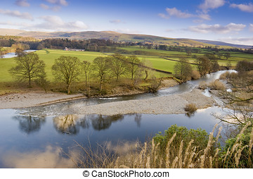 Yorkshire Dales National Park - Lune Valley in the Yorkshire...