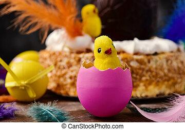 lunes,  mona,  De,  pascua, comido, pastel, Pascua, españa