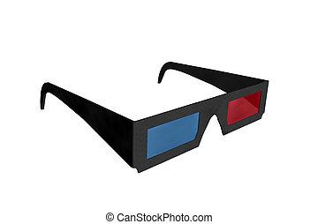 lunettes, 3d, cinéma