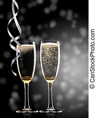 lunettes, champagne
