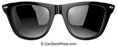 Une paire de lunettes de soleil dans le genre Ray Ban