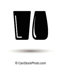 lunettes, deux, icône