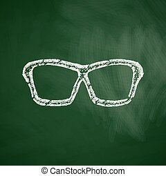 lunettes, icône