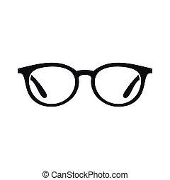 Dessin De Lunettes aveugle, simple, style, icône, lunettes. aveugle, style, simple