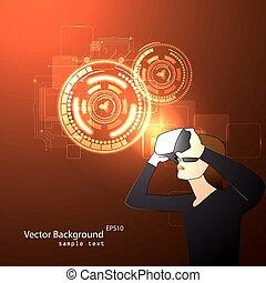 lunettes, réalité virtuelle