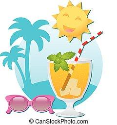 lunettes soleil, cocktail
