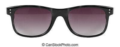 lunettes soleil, couleur, cle, cadre, isolé, contre,...
