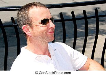 lunettes soleil, homme
