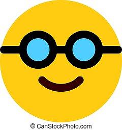 lunettes soleil, nerd, emoji