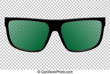 lunettes soleil, réaliste, vecteur, illustration