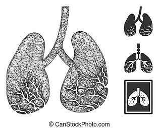 Lung Cancer Polygonal Web Vector Mesh Illustration