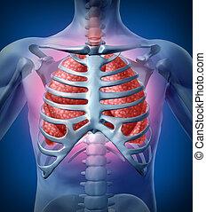 lunge, menschliche , infektion