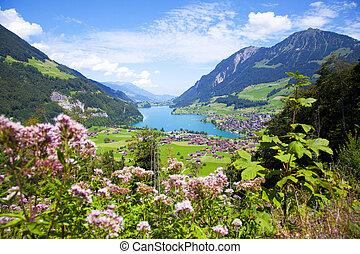 lungern, villaggio, in, svizzera