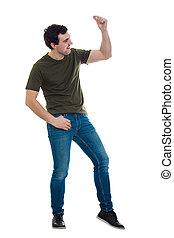 lunghezza, pieno, uomo, ballo