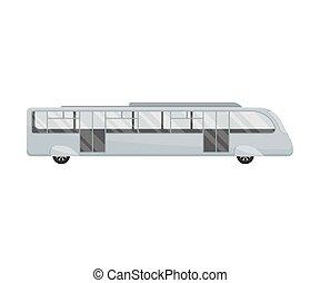 lungo, fondo., vettore, bus., illustrazione, bianco